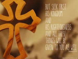 Matthew 6.33